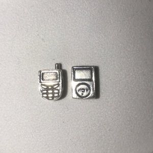 Cell phone and iPod pandora bracelet charms